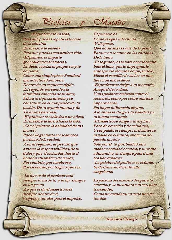 poemas para el dia del maestro